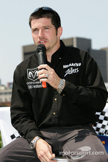 Pre-event press conference: Patrick Carpentier driver for the #22 Dodge NASCAR Busch Series car and #11 SAMAX Pontiac Riley Grand Am Rolex car