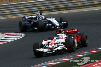 Anthony Davidson, Super Aguri F1 Team. Alexander Wurz, Williams F1 Team