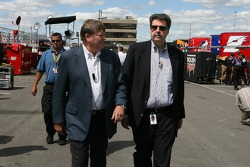 Brian France and NASCAR COO Mike Helton