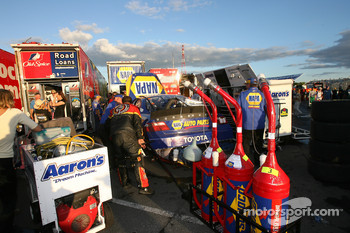 NASCAR Busch Series teams pack the haulers