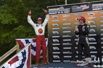 Podium: race winner Sébastien Bourdais and second place Dan Clarke