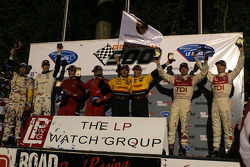 The podium: class winners
