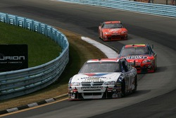 Patrick Carpentier leads Jeff Gordon and Tony Stewart