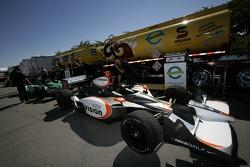 Vision Racing car at fuel station