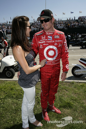 Scott Dixon with his girlfriend