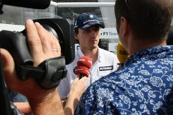 Kai Ebel in an interview with Robert Kubica,  BMW Sauber F1 Team