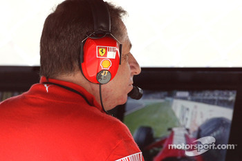 Jean Todt, Scuderia Ferrari, Ferrari CEO watches at Kimi Raikkonen, Scuderia Ferrari crashes heavily