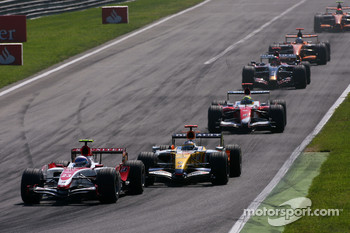 Anthony Davidson, Super Aguri F1 Team, Giancarlo Fisichella, Renault F1 Team