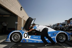TELMEX Chip Ganassi with Felix Sabates Lexus Riley at technical inspection