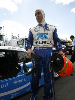 DP and overall pole winner Scott Pruett celebrates