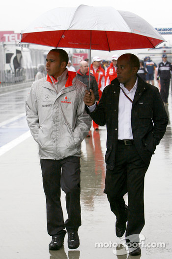 Lewis Hamilton, McLaren Mercedes, Anthony Hamilton, Father of Lewis Hamilton
