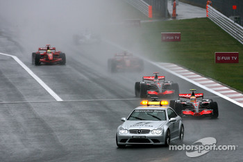 Race starts with the safety car, Lewis Hamilton, McLaren Mercedes, Fernando Alonso, McLaren Mercedes