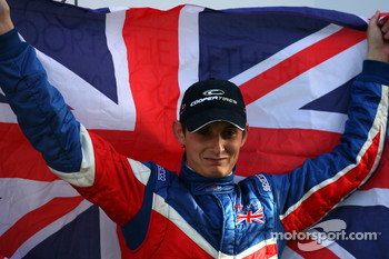 Podium, Oliver Jarvis, driver of A1 Team Great Britain