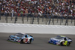 Greg Biffle leads Jimmie Johnson