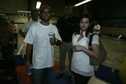 Raphael Matos and his girlfriend