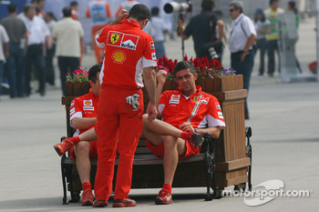 Scuderia Ferrari, team members in the paddock
