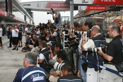 Photographers shoot the Williams F1 Team photo