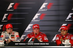 Kimi Raikkonen, Scuderia Ferrari, Fernando Alonso, McLaren Mercedes, Felipe Massa, Scuderia Ferrari