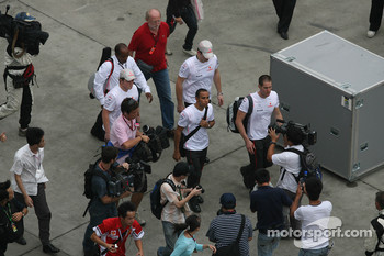 Lewis Hamilton, McLaren Mercedes leaves the circuit