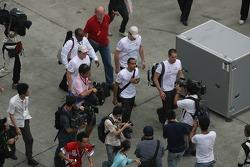 Lewis Hamilton, McLaren Mercedes leaves the circuit