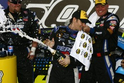 Victory lane: race winner Jeff Gordon celebrates with champagne