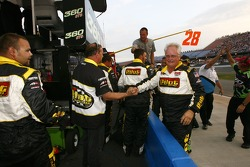 Pilot Travel Centers Toyota team members celebrate the win of Michael Annett
