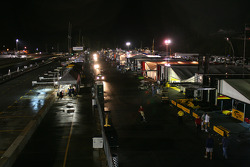 Paddock at night