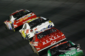 Greg Biffle, Denny Hamlin and Carl Edwards follow Kasey Kahne