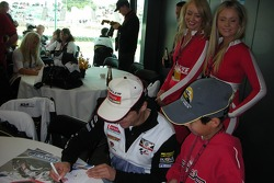 Carlos Checa signs autographs