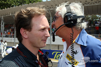 Christian Horner, Red Bull Racing, Sporting Director and Flavio Briatore, Renault F1 Team, Team Chief, Managing Director