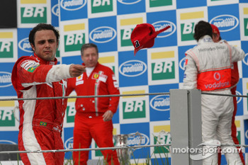 Podium: second place Felipe Massa
