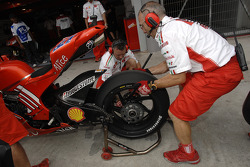 Ducati Marlboro team members at work