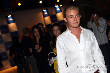 Nico Rosberg and company arrive at the party