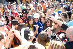 Marco Melandri with fans
