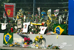 Ayrton Senna memorial at Tamburello
