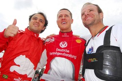 Felipe Massa, Michael Schumacher and Rubens Barrichello