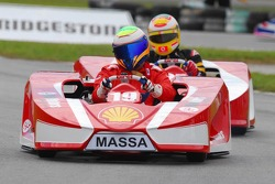 Felipe Massa and Luca Badoer