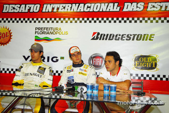 Press conference: Lucas Di Grassi, Nelson A. Piquet and Felipe Massa