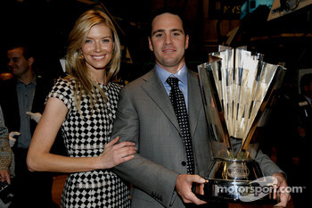 Jimmie Johnson, the 2007 NASCAR NEXTEL Cup Series Champion, tours the New York Stock Exchange with his wife Chandra Johnson
