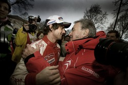 2007 World Rally Champion Sébastien Loeb celebrates