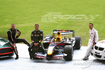 Colin McRae, David Coulthard and Andy Priaulx