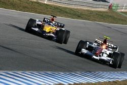 Vitantonio Liuzzi, Force India F1 Team, Nelson A. Piquet, Test Driver, Renault F1 Team
