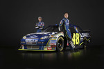Jimmie Johnson and Chad Knaus with the 2008 Hendrick Motorsports Lowe's Chevrolet Impala SS