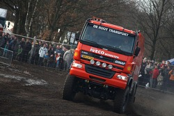 Team de Rooy pre-prologue in Valkenswaard: Gerard de Rooy, Tom Colsoul and Arno Slaats