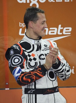 Podium: second place Michael Schumacher
