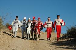 Orlen Team: Lukasz Komornicki, Rafal Marton, Klaudia Podkalicka, Kuba Przygonski, Jacek Czachor, Krzysztof Holowczyc and Jean-Marc Fortin