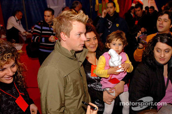 Ferrari Christmas for Kids party: Kimi Raikkonen