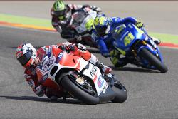 Andrea Dovizioso, Ducati Team and Aleix Espargaro, Team Suzuki MotoGP and Cal Crutchlow, Team LCR Honda