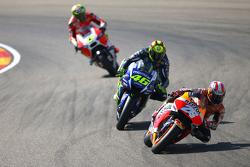 Dani Pedrosa, Repsol Honda Team and Valentino Rossi, Yamaha Factory Racing and Andrea Iannone, Ducati Team