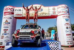 Winners #300 Mini: Nasser Al-Attiyah and Matthieu Baumel celebrate